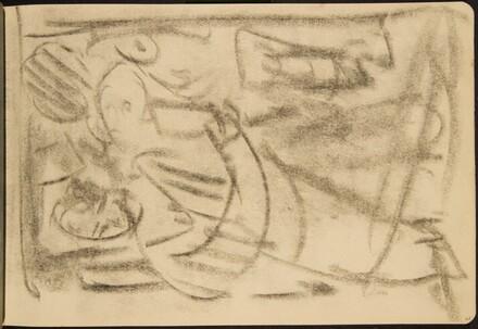 flüchtige Skizze zweier Figuren (Rough Sketch with Two Figures) [p. 21]