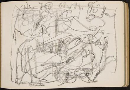 Skizze, Der Tod und die Götter (Sketch of  Death and the Gods) [p. 24]