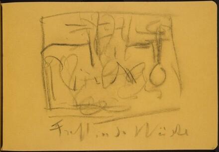 Skizze, Fest in der Wüste (Sketch of Festival in the Desert) [p. 27]