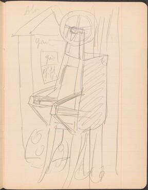 stehender Schubkarren vor Architektur (Wheelbarrow Standing by Architecture) [p. 5]