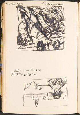Zwei bezeichnete Skizzen (Two Sketches with Inscriptions) [p. 34]