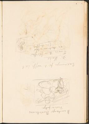 Notizen und kleine Skizze (Notation and Small Sketch) [p. 35]