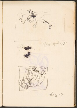 Skizze und leerer Rahmen mit Bezeichnung (Sketch and Empty Frame with Inscription) [p. 37]