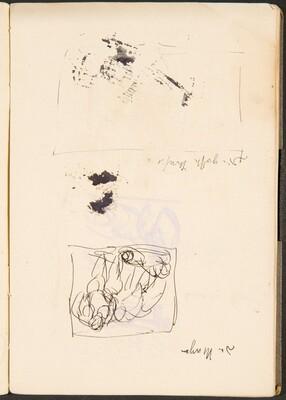 Skizze und leerer Rahmen mit Bezeichnung (Sketch and Empty Frame with Inscription) [p. 37]