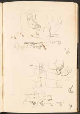 Zwei Skizzen, Bezeichnungen (Two Sketches with Inscriptions) [p. 39]