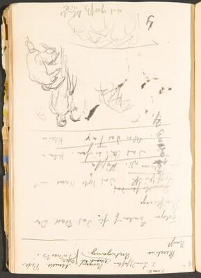 Notizen und kleine Skizze (Notations and Small Sketch) [p. 40]