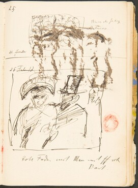 Zwei Skizzen, Bezeichnungen (Two Sketches with Inscriptions) [p. 44]