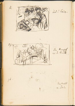 Drei kleine Skizzen mit Bezeichnung (Three Small Sketches with Inscriptions) [p. 49]