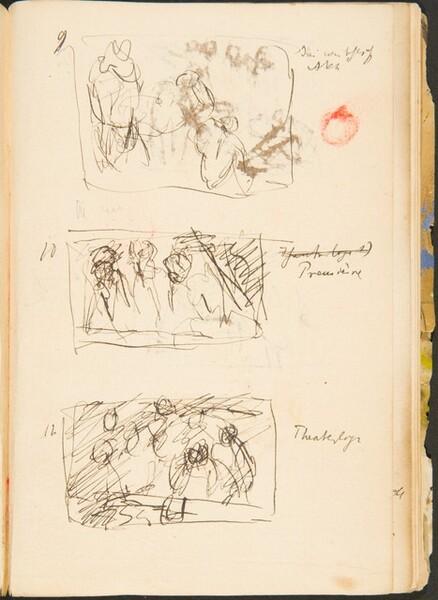 Drei kleine Skizzen mit Bezeichnung (Three Small Sketches with Inscriptions) [p. 50]