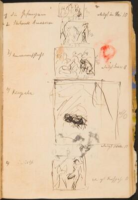 Fünf kleine Skizzen mit Bezeichnung (Five Small Sketches with Inscriptions) [p. 52]