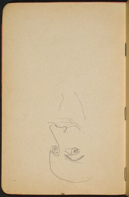 begonnene Skizze eines Mannes mit Bart (Unfinished Sketch of a Man with Beard) [p. 6]