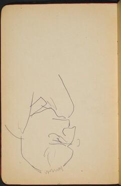 flüchtige männliche Bildnisstudie (Male Portrait Sudy) [p. 8]