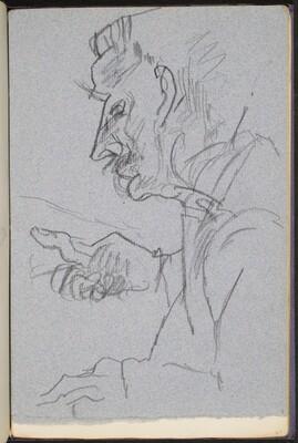 männliche Bildnisstudie (Male Portrait Study) [p. 7]
