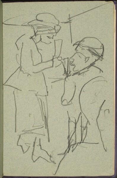 Mann und Frau mit Sektgläsern (Couple with Champagne Glasses) [p. 37]