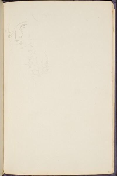 flüchtiges Gesicht  (Sketch of a Face) [p. 53]