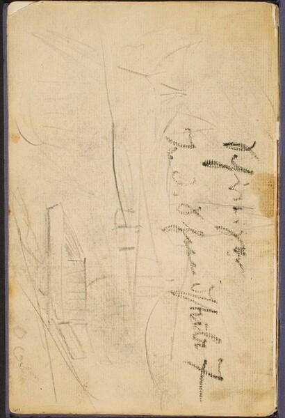Landschaftsskizze mit Notizen (Sketch with Inscription) [p. 64]