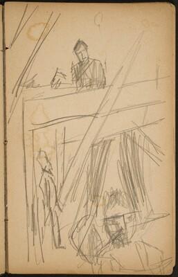 Drei Figuren in Interieur (Three Figures in a Building) [p. 27]