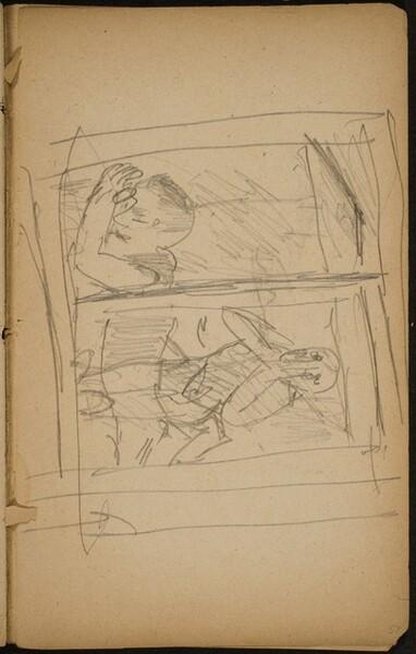 Paar durch ein Fenster gesehen (Distrought Couple Seen through a Window) [p. 57]