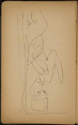 Figur aus einer Tür tretend (Figure Stepping through a Door) [p. 23]