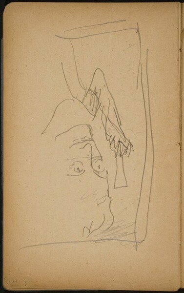 Kopf mit Hut, Gesicht verworfen (Head with a Hat) [p. 64]