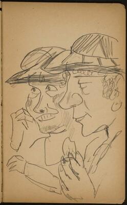 Zwei Frauen mit Hüten (Two Women with Hats) [p. 67]
