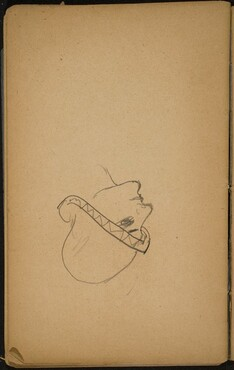 Frauenkopf mit Hut (Woman's Head with a Hat) [p. 82]