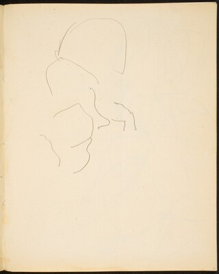 Begonnenes Skizze (Sketch of Face) [p. 9]