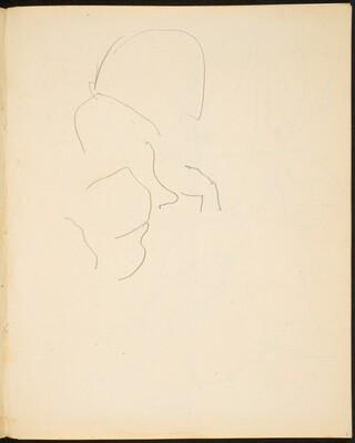Begonnenes Skizze (Sketch of Face) [p. 9]