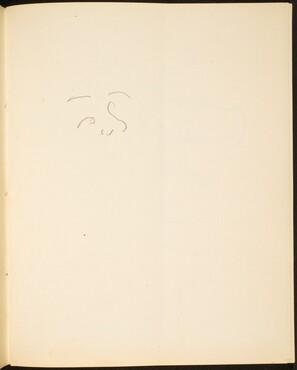 Benonnenes Gesicht (Sketch of Face) [p. 13]