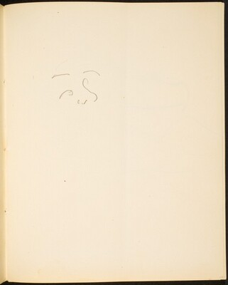 Benonnenes Gesicht (Sketch of Face) [p. 13]