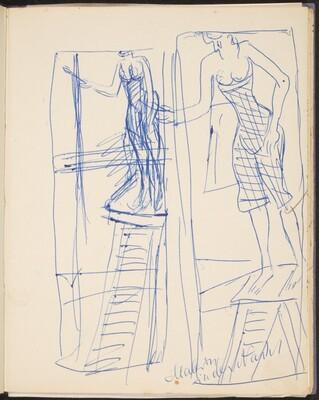 Frau auf einer Leiter (Woman on a Ladder) [p. 27]