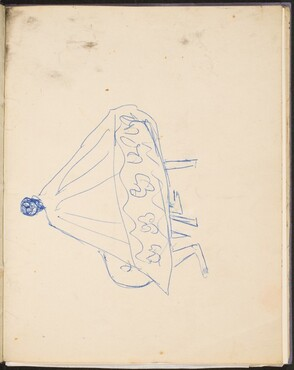 Sitzende Frau im Umhang (Seated Figure with a Cape) [p. 29]
