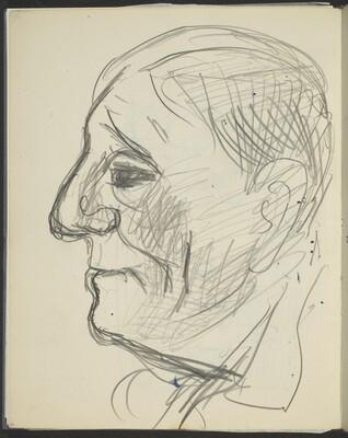 männliche Bildnisstudie (Male Profile) [p. 40]
