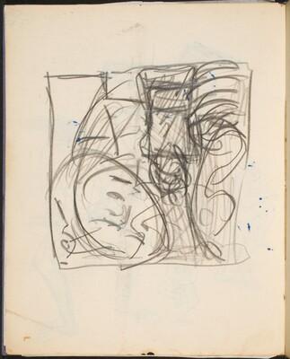 Skizze - Gesicht (Sketch of  a Face) [p. 42]