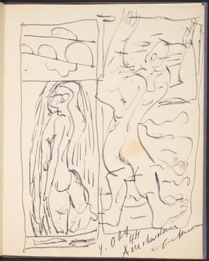 Zwei Skizzen unter Wasser (Two Under Water Sketch) [p. 47]