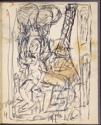 Entwurf zu Abstürzender (Sketch for Falling Man) [p. 51]