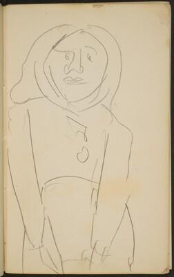 flüchtige Halbfigur mit Kopftuch (Woman with a Headscarf) [p. 7]