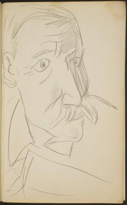 älterer Mann mit Schnurrbart (Elderly Man with Moustache) [p. 17]
