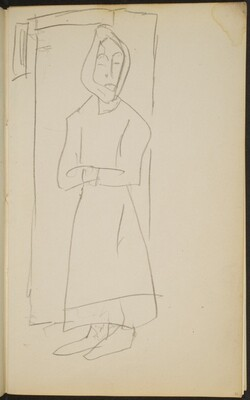 Frau mit Kopftuch in Türöffnung  (Woman with Headscarf in a Door) [p. 21]