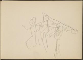 flüchtige Skizze dreier Tanzender (Three Dancers) [p. 11]