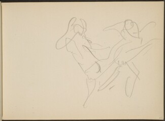 Skizze von Tanzenden (Sketch of Two Dancers) [p. 67]
