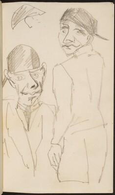 Mann mit Kappe in zwei Ansichten (Two Views of a Man with a Cap) [p. 25]