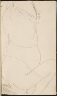 liegende Frau mit verborgenem Gesicht (Woman Laying Face Down) [p. 35]