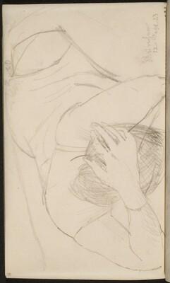 Liegende Frau in Wäsche (Woman in Corset Reclining ) [p. 70]