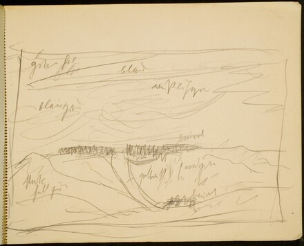 Dünenlandschaft, Farbangaben (Sketch with Notations) [p. 7]