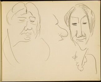 Drei Studienköpfe (Study of Three Heads) p. 35]