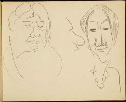 Drei Studienköpfe (Study of Three Heads) p. 35]