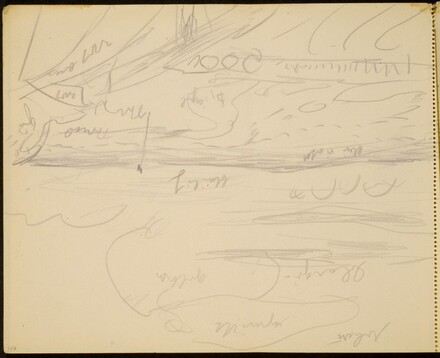 Meereslandschaft, Farbangaben (Seascape with Notations) [p. 116]