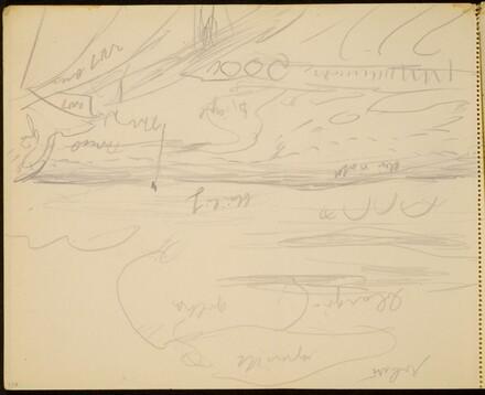 Meereslandschaft, Farbangaben (Seascape with Notations) [p. 116]