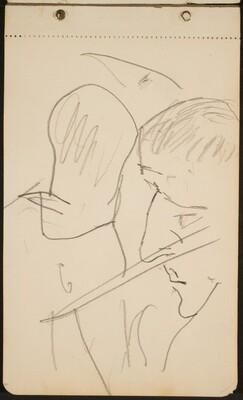 zwei männliche Profile (Two Male Profiles) [p. 3]